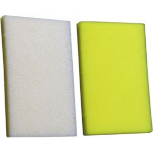 NO TOIL 380-23 AIR FILTER DUAL-LAYER LEFT | RIGHT RECTANGLE FOAM PERFORMANCE REPLACEMENT WHITE | YELLOW