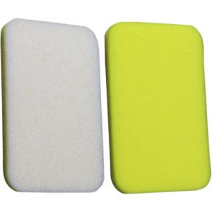 NO TOIL 380-24 AIR FILTER DUAL-LAYER LEFT | RIGHT RECTANGLE FOAM PERFORMANCE REPLACEMENT WHITE | YELLOW
