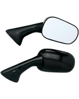 EMGO 20-87091 MIRROR OEM REPLACEMENT FOR HONDA CARBON RIGHT