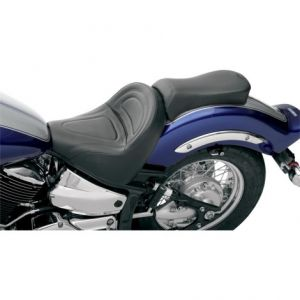 SADDLEMEN Y3170J SOLO SEAT RENEGADE™ CLASSIC FRONT SADDLEHYDE™|SADDLEGEL™ PLAIN BLACK