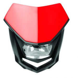 POLISPORT 8657400006 HALO HALOGEN HEADLIGHT APPROVED 12V/35/5W RED