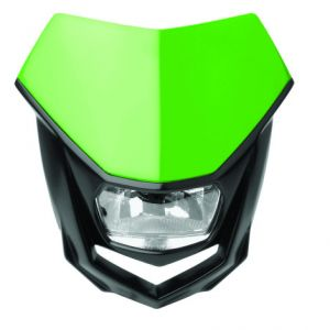 POLISPORT 8657400007 HALO HALOGEN HEADLIGHT APPROVED 12V/35/5W GREEN