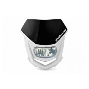 POLISPORT 8667100002 HALO LED HEADLIGHT ECE APPROVED BLACK/WHITE