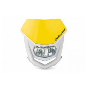 POLISPORT 8667100003 HALO LED HEADLIGHT ECE APPROVED YELLOW/WHITE
