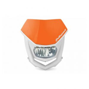 POLISPORT 8667100004 HALO LED HEADLIGHT ECE APPROVED ORANGE/WHITE