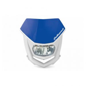 POLISPORT 8667100005 HALO LED HEADLIGHT ECE APPROVED BLUE/WHITE