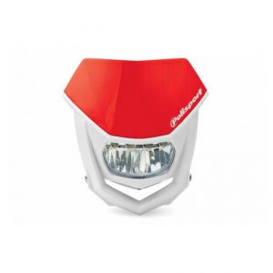 POLISPORT 8667100006 HALO LED HEADLIGHT ECE APPROVED RED/WHITE