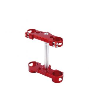 KITE 11.080.0.RO TRIPLE CLAMP MX-EN 22 MM OFFSET ALUMINIUM ANODIZED RED