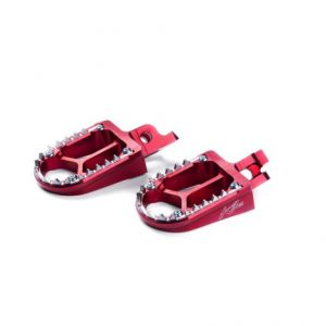 KITE 29.017.0.RO FOOTPEGS MX-EN ALUMINIUM CUSTOM REPLACEMENT RED