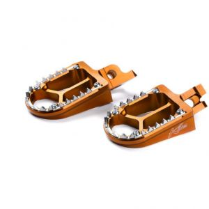 KITE 29.100.0.AR FOOTPEGS MX-EN ALUMINIUM CUSTOM REPLACEMENT ORANGE