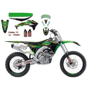 BLACKBIRD RACING 8423R9 REPLICA KAWASAKI RACING TEAM GRAPHIC + SEAT COVER KIT