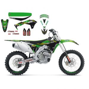 BLACKBIRD RACING 8424R9 REPLICA KAWASAKI RACING TEAM GRAPHIC + SEAT COVER KIT