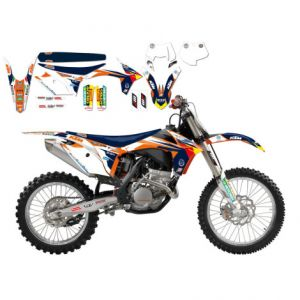 BLACKBIRD RACING 8537R14 REPLICA KTM TROPHY 2017 GRAPHIC + SEAT COVER KIT