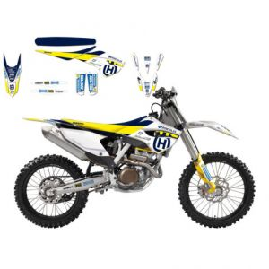 BLACKBIRD RACING 8611R1 REPLICA MADDII RACING 2017 HUSQVARNA GRAPHIC + SEAT COVER KIT