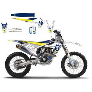 BLACKBIRD RACING 8612R1 REPLICA MADDII RACING 2017 HUSQVARNA GRAPHIC + SEAT COVER KIT