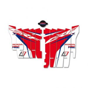 BLACKBIRD RACING A106R17 REPLICA TEAM HONDA HRC 2017 RADIATOR LOUVER STICKERS