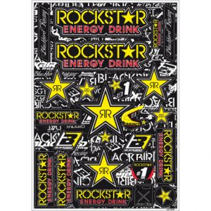 BLACKBIRD RACING 5076L ROCKSTAR LOGO DECAL KIT