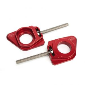 GILLES TOOLING AXB-RN45-R CHAIN ADJUSTER AXB RED YAMAHA