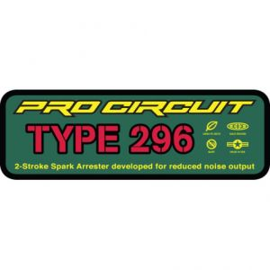 PRO CIRCUIT DCTYPE296 EXHAUST STICKER TYPE 296