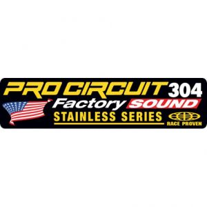 PRO CIRCUIT DCFS304 EXHAUST STICKER R-304 FACTORY