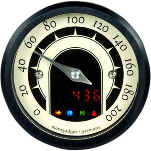 MOTOGADGET 5001013 MST SPEEDSTER ANALOG SPEEDOMETER ANODIZED BLACK