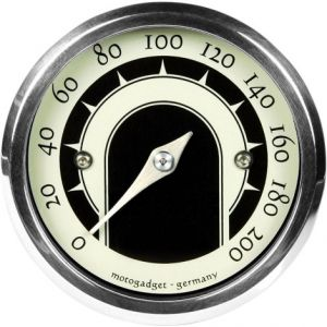 MOTOGADGET 5001015 MST VINTAGE ANALOG SPEEDOMETER BRASS FINISH
