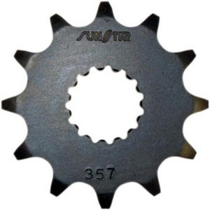 SUNSTAR SPROCKETS 35713 357 FRONT REPLACEMENT SPROCKET 13 TEETH 520 PITCH BLACK STEEL
