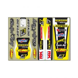 BLACKBIRD RACING 5327 STANDARD LOGO DECAL KIT YELLOW