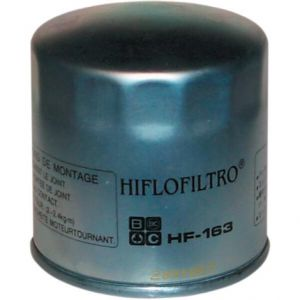 HIFLOFILTRO HF163 OIL FILTER SPIN-ON PAPER CHROME