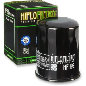HIFLOFILTRO HF196 OIL FILTER SPIN-ON PAPER GLOSSY BLACK