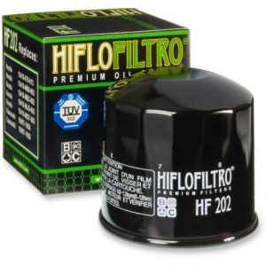 HIFLOFILTRO HF202 OIL FILTER SPIN-ON PAPER GLOSSY BLACK