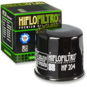 HIFLOFILTRO HF204 OIL FILTER SPIN-ON PAPER GLOSSY BLACK