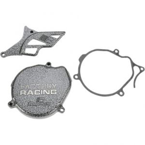 BOYESEN SC00 IGNITION COVER FACTORY RACING ALUMINUM REPLACEMENT SILVER | BLACK