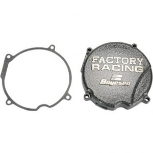 BOYESEN SC-03 IGNITION COVER FACTORY RACING ALUMINUM REPLACEMENT SILVER | BLACK