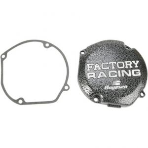 BOYESEN SC23 IGNITION COVER FACTORY RACING ALUMINUM REPLACEMENT SILVER | BLACK