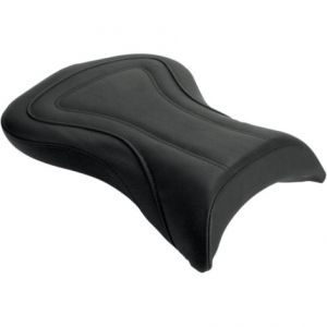 SADDLEMEN Y0350J SOLO PILLION PAD RENEGADE™ TOUR REAR SADDLEHYDE™|SADDLEGEL™ PLAIN BLACK